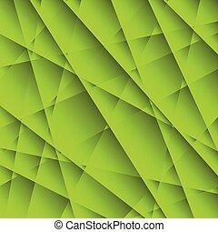 abstract, groene, geometrisch, achtergrond