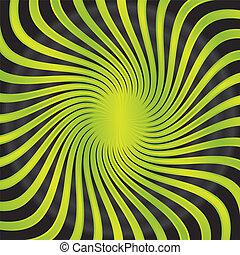 abstract, groene, twirl