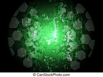 abstract, groene, verlichting, vector, achtergrond