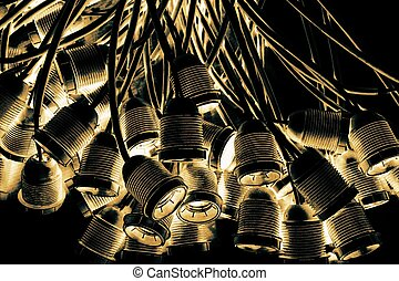 abstract group of lamp holder for background used