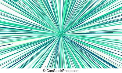 Abstract growing rays in blue color
