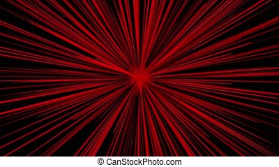 Abstract growing rays in red color