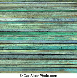 abstract grunge 3d render blue green wood timber plank...