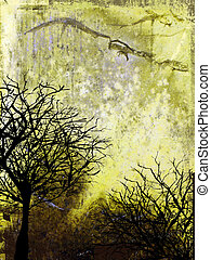 Abstract grunge background - Grunge style winter background