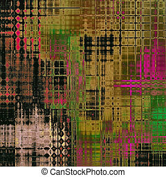 Abstract grunge background of old texture. With different color patterns: brown; green; black; pink