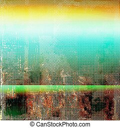 Abstract grunge background of old texture. With different color patterns: yellow (beige); brown; green; blue; red (orange)