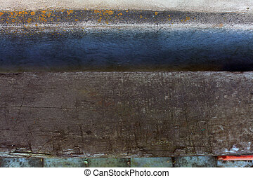 Abstract grunge background. Old wood and stucco wall.