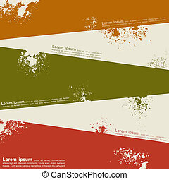 Abstract grunge background template design. Vector