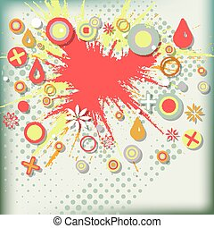 Abstract grunge background  with explosion paint.