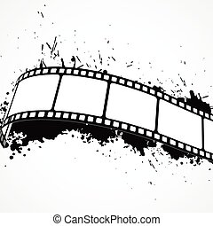 abstract grunge background with film strip