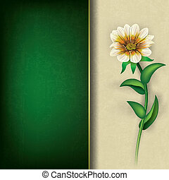 abstract grunge background with flower