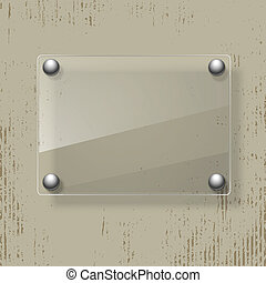 Abstract grunge background with glass framework. Vector illustration.