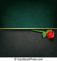 abstract grunge background with red rose