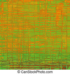 Abstract grunge background with retro design elements and different color patterns: yellow (beige); brown; green; red (orange)