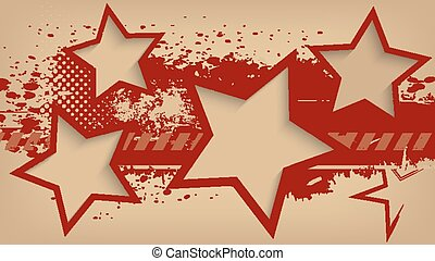 Abstract grunge background with stars.