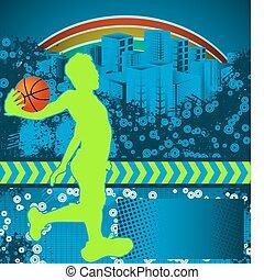 Abstract grunge basketball poster