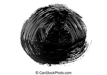 Abstract grunge brush stroke isolated
