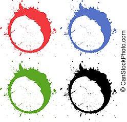 Abstract grunge circles
