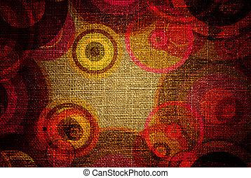 grunge circles on canvas