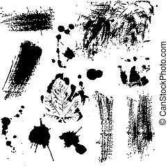 Abstract grunge design elements