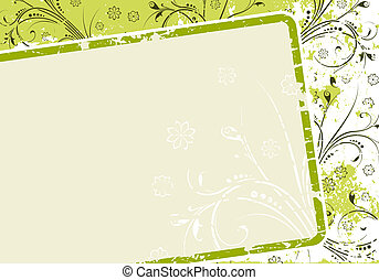 Abstract Grunge Floral Background