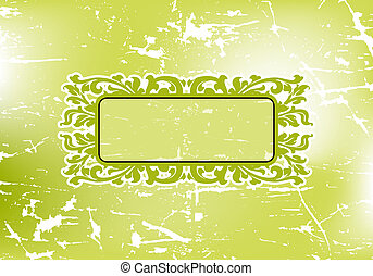 Abstract Grunge Floral Frame