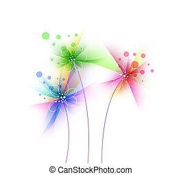 Abstract grunge flower, floral art design