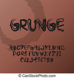 Abstract Grunge Font