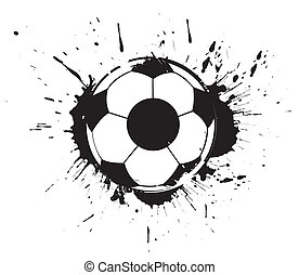 abstract grunge football - abstract grunge ink splate...