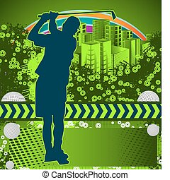 Abstract grunge golf poster
