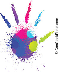 Abstract grunge hand. Vector