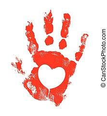 Grunge Heart Hand Texture - Abstract Grunge Heart Hand ...