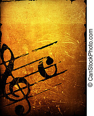 grunge melody textures - Abstract grunge melody textures and...