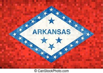 Abstract grunge mosaic flag of Arkansas