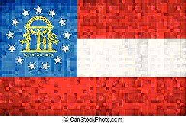 Abstract grunge mosaic flag of Georgia