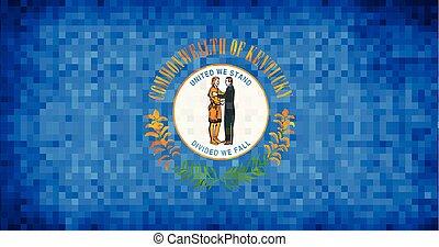 Abstract grunge mosaic flag of Kentucky