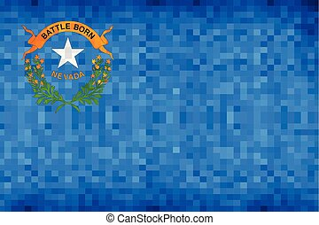 Abstract grunge mosaic flag of Nevada