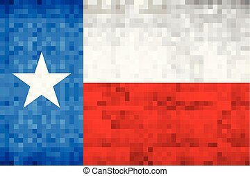 Abstract grunge mosaic flag of Texas