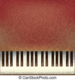 abstract grunge music background with old piano keys
