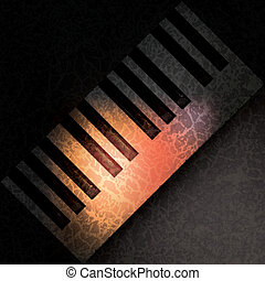 abstract grunge music background with spot light on piano...