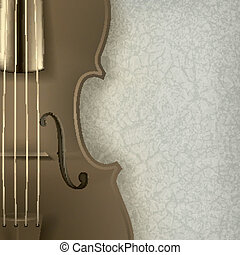 abstract grunge music background with violin - abstract...