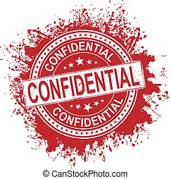 Abstract grunge office rubber stamp with the text confidential check for more