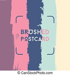 Abstract grunge postcard template