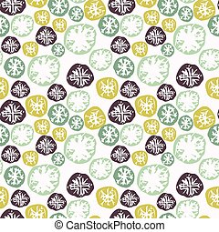 Abstract grunge seamless pattern with snowflakes