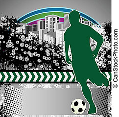 Abstract grunge soccer poster