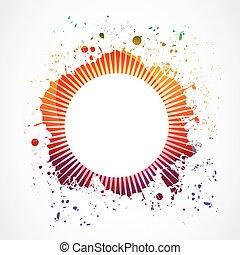 abstract grunge splash background