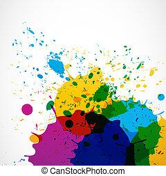 abstract grunge splash paint