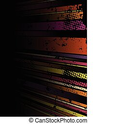 Abstract Grunge Stripe Background in several colors.