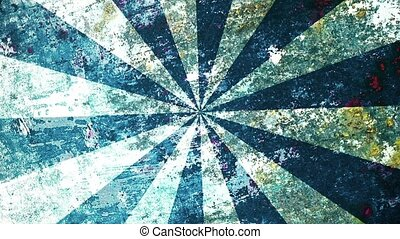 Abstract, grunge sunburst in blue color