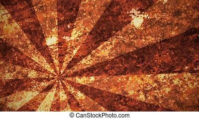 Abstract, grunge sunburst in orange color